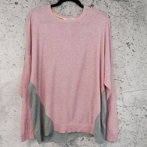 BODEN Easy Colorblock Sweater Pink Grey 18